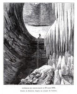 "Disegno dell'Abime du Creux- Percé in ""Les Abimes"" di Eduard A. Martel, 1894"